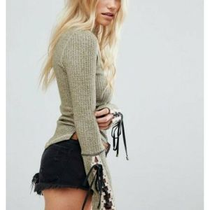 Free People Mountaineer Cuff Mock Neck Thermal Top